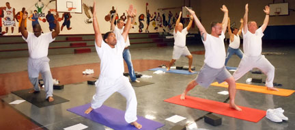 Yoga in the Prison Gym